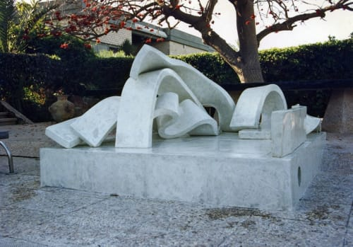 Sculptures by CARLOS BASANTA seen at Private Residence, Caesarea - Seven Ribbons