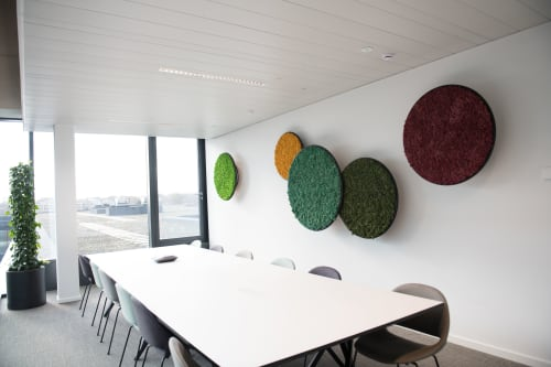 Wall Treatments by Alain Gilles seen at Astrea, Brussel - G-Circles