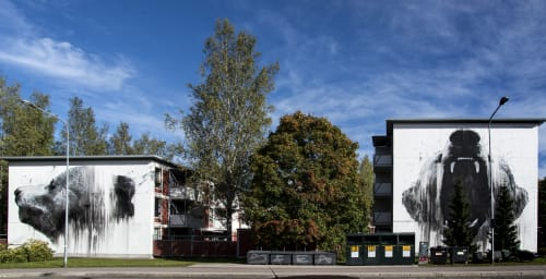 Murals by Jussi TwoSeven seen at Kannelmäki, Helsinki - ROAR-00420 series