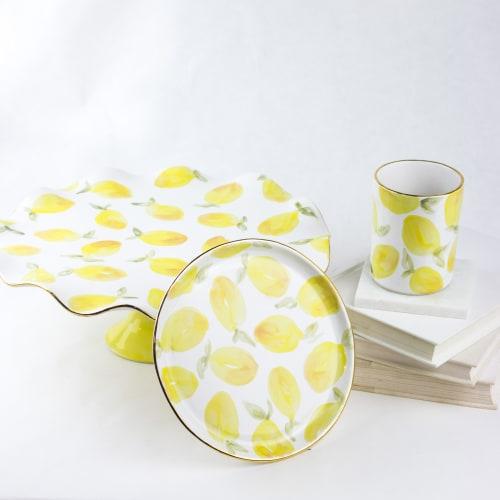 Tableware by Susan Gordon Pottery at Susan Gordon Pottery Studio, Birmingham - Lemon Colleciton