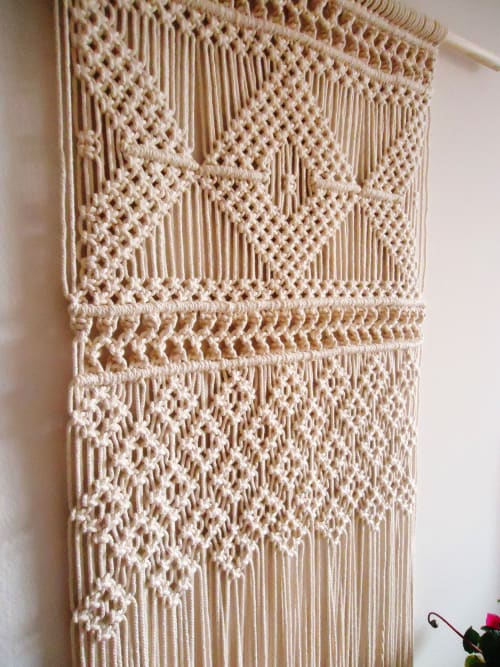 Macrame Wall Hanging by YASHI DESIGNS seen at Private Residence, Milpitas - Geometric Wall Hanging