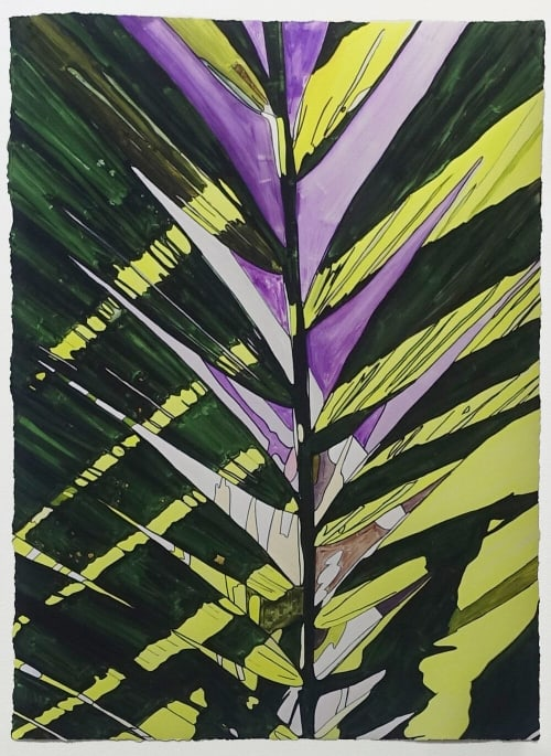 Paintings by Jeremy Wagner Studio seen at Private Residence, New York - Purple Palm