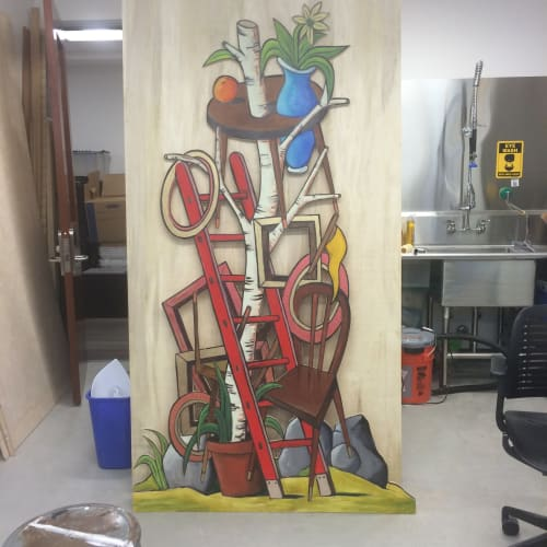 Paintings by Kelly Detweiler seen at San Francisco, San Francisco - Big Red Ladder