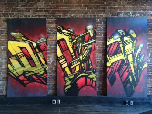 Murals by Christian Toth Art seen at Tide & Boar, Moncton - Digital - DPL Wireless - ATM Solutions