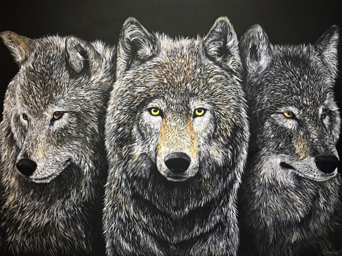 Paintings by Shannon Marie Schacht seen at West Lives On Gallery, Jackson - The Pack