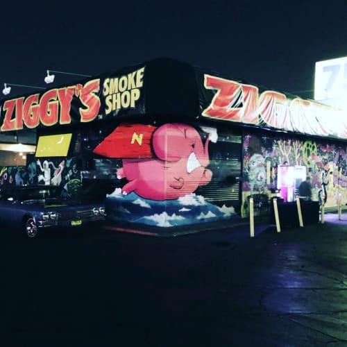 Murals by AngelOnce seen at Ziggy's Smoke Shop, Westminster - Ziggy's Smoke Shop Mural