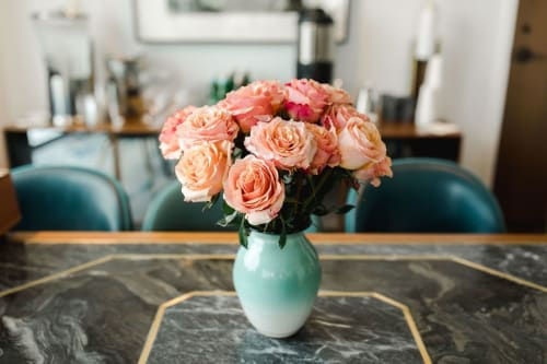 Vases & Vessels by Swindell Pottery seen at Private Residence - Teal Ombre Vase