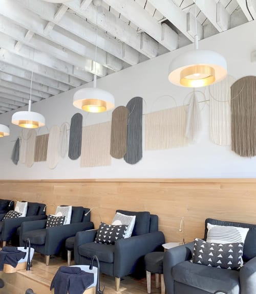 Macrame Wall Hanging by Attalie Dexter Home + Accessories seen at Base Coat Nail Salon Arts District, Los Angeles - Custom Wall Hanging