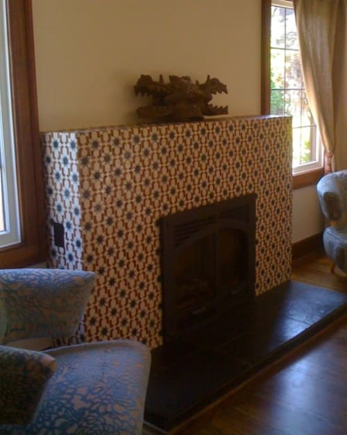 Art & Wall Decor by Tina Randolph at Private Residence, Seattle - Seamless Patterned Fireplace