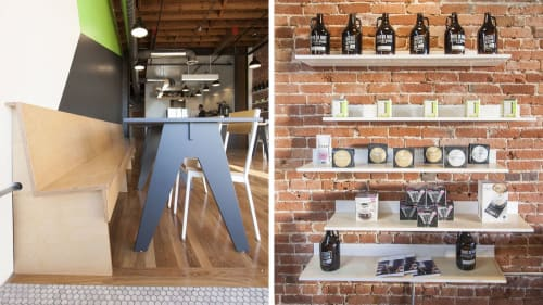 Interior Design by Camp Design seen at Recreational Coffee, Long Beach - Interior Design