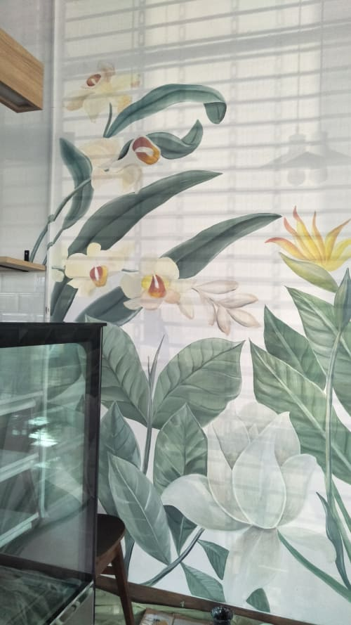 Murals by Enis Art seen at Private Residence, Central Java - Tropical Mural