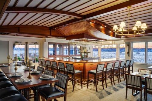 Chairs by Eustis Chair seen at Corinthian Yacht Club, Tiburon - Jenkins Bar Stool