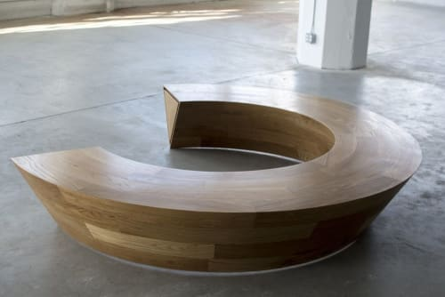 Round and Round Circular bench with hidden drawer   Benches & Ottomans by Makingworks