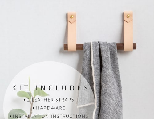 Hardware by Keyaiira | leather + fiber seen at Private Residence, Santa Rosa - Hanging Dowel Kit [V'ed End]