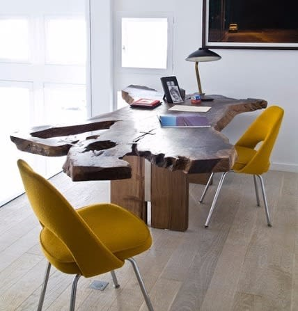 Tables by Creation Therrien seen at Private Residence, Paris - Walnut Desk