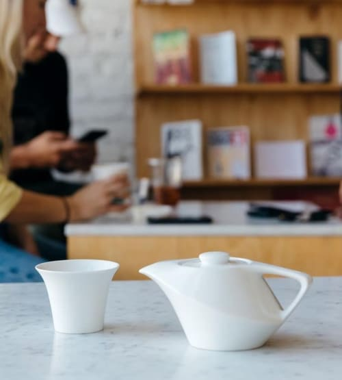 Tableware by notNeutral seen at Eightfold Coffee, Los Angeles - CALA Teapot and Tasting Cup
