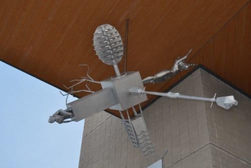 Public Sculptures by Patrick Bérubé seen at Cégep de l'Outaouais, Gatineau - Echo-Gnition