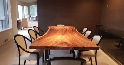 Tables by Elpis & Wood seen at Private Residence, Everett - Live Edge Dining Table