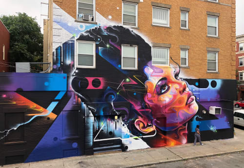 Street Murals by Mr Cenz seen at Private Residence, Salem - The queen of the block