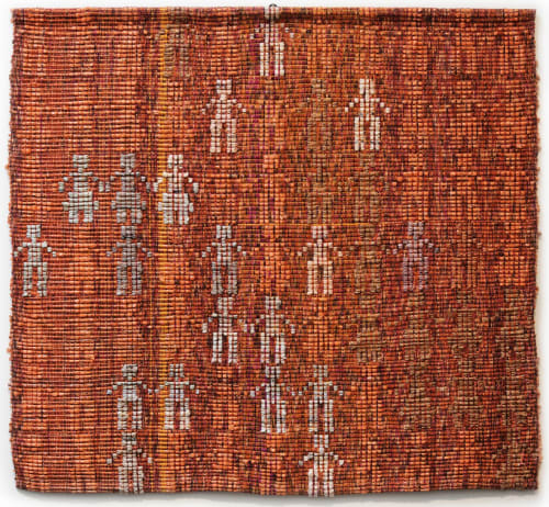Wall Hangings by Doerte Weber seen at Creator's Studio, San Antonio - Handwoven WallHanging: People