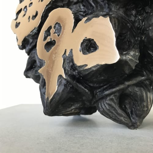 Sculptures by Oliver Ashworth-Martin seen at Gasworks Arts Park, Albert Park - Augmented Immortal