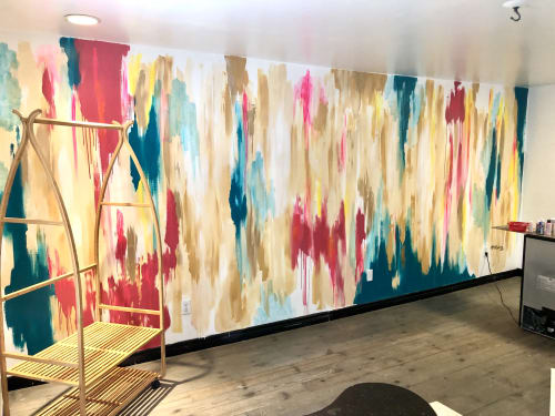 Murals by Alana McCarthy Creative seen at HelloBonjour, Prince Edward - Hello Bonjour Cafe - Local Love Focal Wall Mural