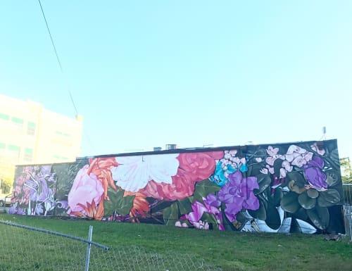 Murals by Nicole Holderbaum (Nico) seen at Craft Food & Beer, Miami - Garden