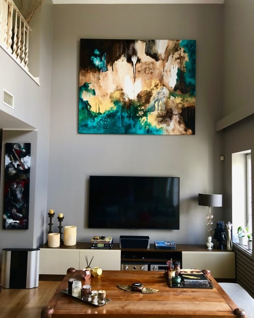 Paintings by Deniz Say seen at Private Residence - Abstract expressionist painting