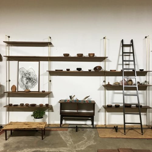 Furniture by Hawk & Stone seen at Biscuit Company Lofts, Los Angeles - Custom Shelves