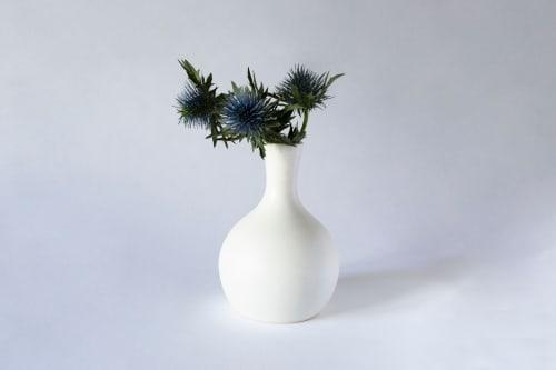 White Porcelain Bud Vase | Vases & Vessels by Tina Fossella Pottery