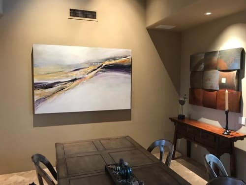 """Paintings by Jan Griggs seen at Private Residence, Scottsdale - """"Movement of Nature"""" Painting"""