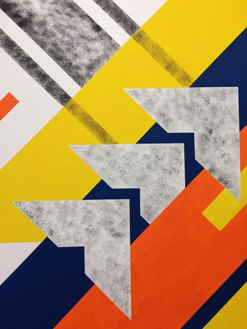 Murals by LAMKAT seen at Behalf Inc., New York - Herald Square