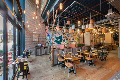 Murals by TIGERS OF THE UNIVERSE seen at Zizzi Bracknell, Bracknell - Zizzi Bracknell Artwall