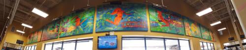 Murals by Lennon Michalski seen at Kroger, Lexington - Mural
