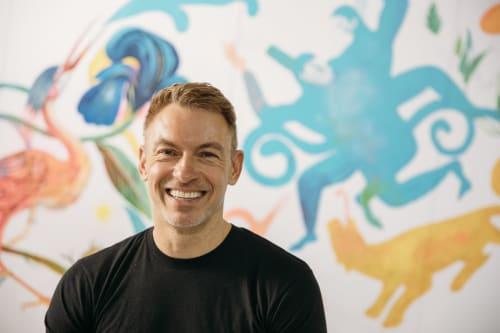 "Murals by Olaf Hajek seen at Berlin, Berlin - BOMBAY SAPPHIRE ART EVENT ""Stir Creativity"" Event Berlin and London"