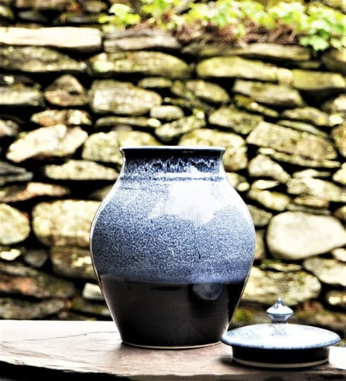 Vases & Vessels by Robin Badger & Robert Chartier seen at Private Residence, West Bolton, Quebec - Ceramic cremation urn for ashes