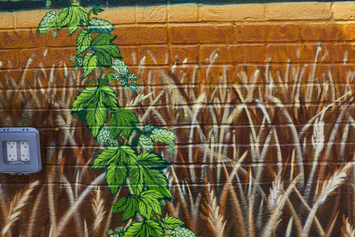 Murals by Jared Goulette | The Color Wizard seen at Brewery Extrava, Portland - Brewery Extrava exterior Mural