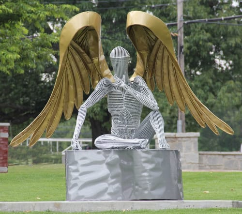 Sculptures by Jack Howard-Potter seen at Fayetteville, Fayetteville - Winged Glory