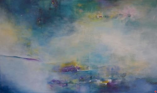 Paintings by Laurie DeVault Fine Art seen at Private Residence, Martinez - Mountain Mist and Ancient Rhythms