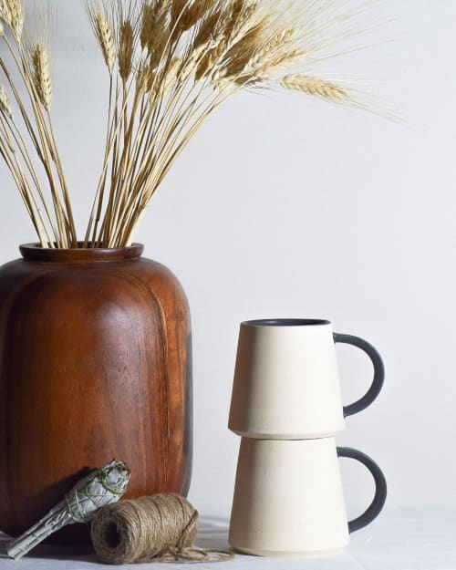 Cups by Stone + Sparrow seen at Private Residence, Pittsburgh - d-grip mug