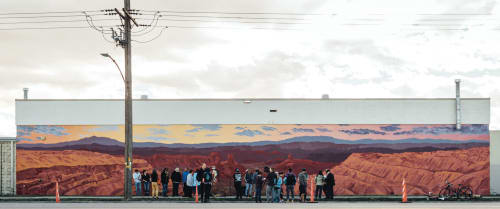 Murals by Josh Scheuerman seen at Fisher Brewing Company, Salt Lake City - Bears Ears National Monument