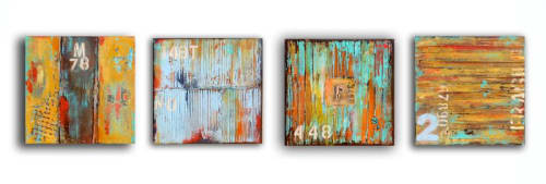 Paintings by ERIN ASHLEY seen at Italy - Published art in Rivier Art magazine/Italy