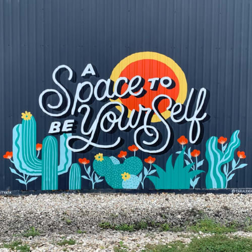 Murals by Tara Johnston seen at Austin, Austin - Smart City Mural