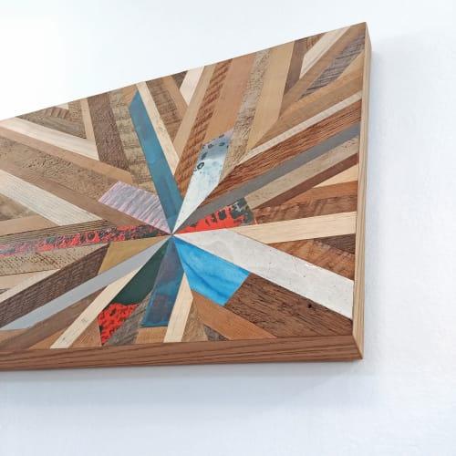 Wall Hangings by Christopher Original seen at Rubia Hair, West Linn - Reclaimed Wood Starburst