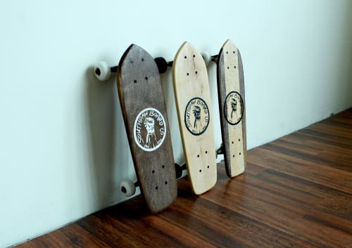 Art & Wall Decor by Southpaw Board Co seen at Private Residence, Portland - Mini Cruisers Wall Display