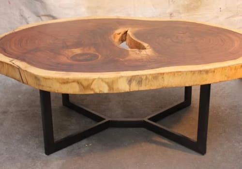 Tables by Clay Street Woodworks seen at Private Residence, Morrison - Rick's Coffee Table
