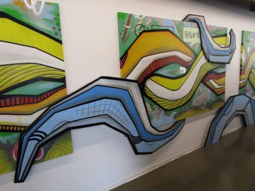 Paintings by Erwin Erkfitz seen at KPMG, Grand Rapids - Innovation/Transformation