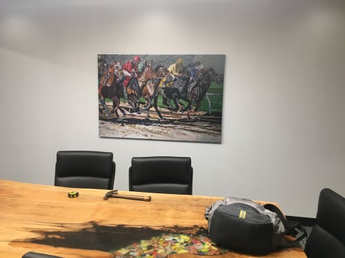Paintings by Tony Lipps seen at Reminger Co., LPA, Cincinnati - Horse Race