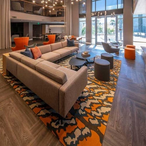 Rugs by Emma Gardner Design, LLC seen at Capitol 650 Apartments, Milpitas - Custom Dunes