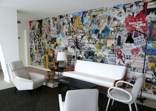 Murals by Christian GASTALDI seen at Hotel Vincci Bit, Barcelona - MPL 00